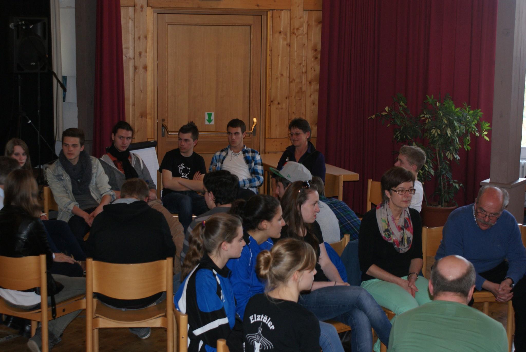 Jugendforum im Rahmen des LEADER - Projekts